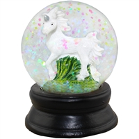 White Unicorn Snow Globe