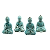 Sitting Buddha Blue Asst Set
