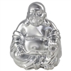 Happy Buddha Ceramic Silver