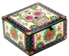Rosy Sugar Skull Glass Box