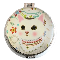 Royal Cat Glass and Ceramic Trinket Box