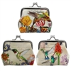 Hummingbird Path Garden Clasp Coin Purse Asst 1Dz