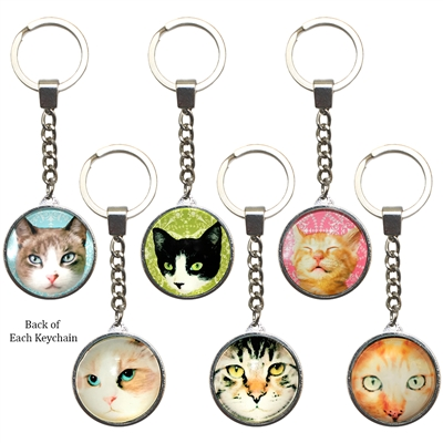 Pampered Cats Key Rings