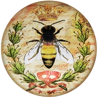 Queen Bee Glass Dome Paperweight