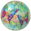 Butterfly Postcard Glass Dome Paperweight