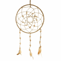 Dream Catcher Jute Natural Beads & Feathers