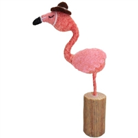 Fannie Flamingo Felted Wooly Friend