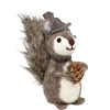 Squirrel & Pine Cone Standing Felted Woolie