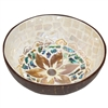 Sunset Bloom Mosaic Inlay Coconut Shell Bowl