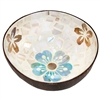 Island Bloom Mosaic Inlay Coconut Shell Bowl
