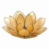 Golden Pearl Lotus Tealight Holder