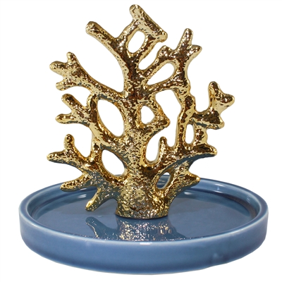 Gold Coral Jewelry Tray