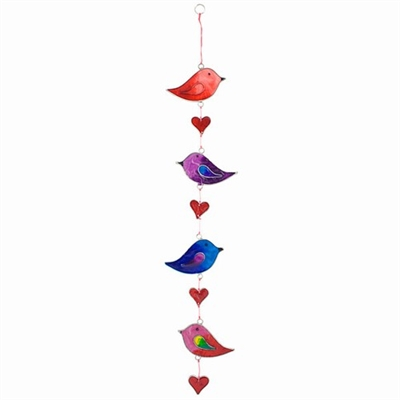 Love Birds & Hearts Suncatcher