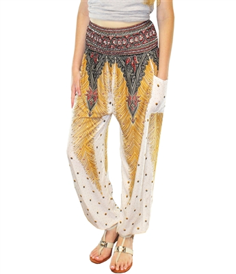 Jeannie Pants White & Gold