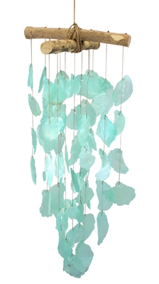 Aqua Capiz Shell Soft Shell Chime Mobile
