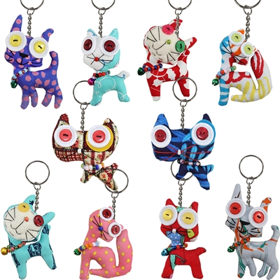 Canty Cat Googly Key Ring