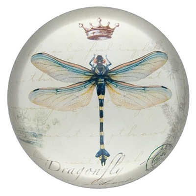 Glass Paperweight Dragonfly