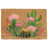 Cactus Blooms Door Mat