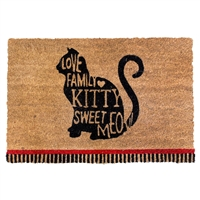 Cat Messages Door Mat