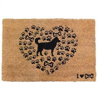 Dog Heart Door Mat