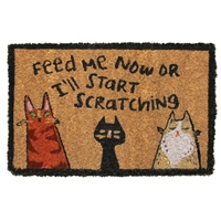 Feed Me Cats Mini Door Mat