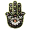 Silver & Green Hamsa Incense Holder
