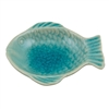 River Fish Tray Aqua Ceramic