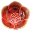 Lotus Cup Red Ceramic