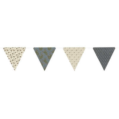 Paper Triangle Bunting Paisley Glitter