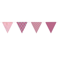 Paper Triangle Bunting Pink