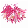 Paper Flag Bunting Pink Glitter