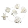 Paper Hearts Garland White
