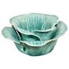Baby Rose Tea Light Holder Ceramic Aqua