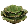 Vintage Rose Tea Light Holder Ceramic Green