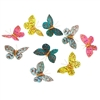 Butterfly Garland Jeweled & Glitter