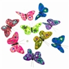 Mardi Gras Jewels Glitter Butterfly Garland