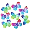 Watercolor Rainbow 3D Paper Butterfly Garland