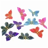 Royal Color w/ Glitter Butterfly Garland