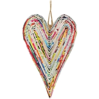 Recycled Magazine Heart Ornament