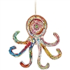 Recycled Magazine Octopus Ornament