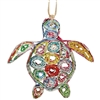 Recycled Magazine Turtle Ornament