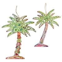 Recycled Magazine Palm Tree Ornament