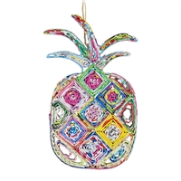 Recycled Magazine Pineapple Ornament