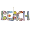 Recycled Magazine Beach Word Ornament