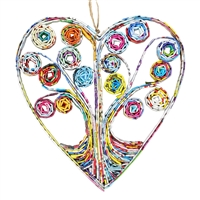 Recycled Magazine HeartTree Ornament