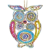 Recycled Magazine Owl Ornament