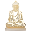Gold Buddha Laser Cut Figure