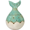 Mermaid Tail Jar Ceramic