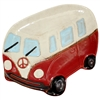 Peace Van Ceramic Plate Red