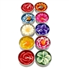 Flower Tea Lights Asstd Scented